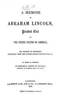 A Memoir of Abraham Lincoln PDF