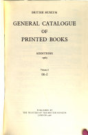 British Museum General Catalogue of Printed Books Additions 1964 PDF