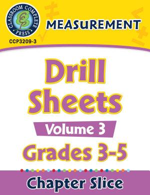 Measurement  Drill Sheets Vol  3 Gr  3 5