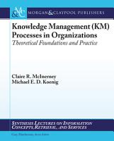 Knowledge Management  KM  Processes in Organizations PDF