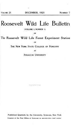 Roosevelt Wildlife Bulletin PDF