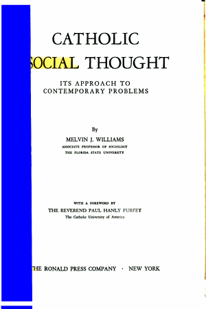 Catholic Social Thought PDF