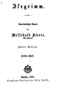 Isegrimm Vaterlandischer Roman PDF