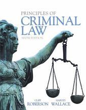 Principles of Criminal Law: Edition 6