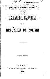 Reglamento electoral de la República de Bolivia