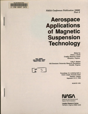 Aerospace Applications of Magnetic Suspension Technology, Part 2