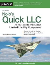 Nolo's Quick LLC: All You Need to Know About Limited Liability Companies (Quick & Legal)