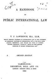 A Handbook of Public International Law