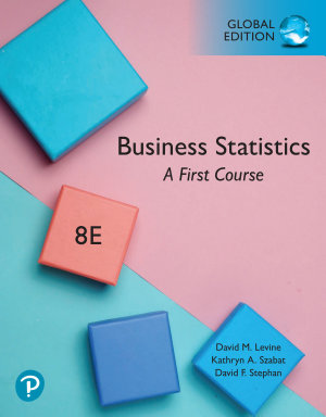 Business Statistics  A First Course  EBook  Global Edition