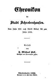 Chronikon der Stadt Schrobenhausen: vom Jahre 855 nach Christi Geburt bis zum Jahre 1850