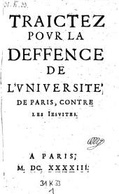 Observations Importantes, Sur la Requeste presentée au Conseil du Roy par les Iesuites le II. de mars 1643: Tendante à l'vsurpation des Privileges de l'Vniversité de Paris. 1