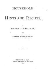 Household Hints and Recipes