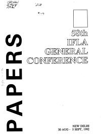 IFLA General Conference PDF