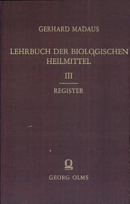 Lehrbuch der biologischen Heilmittel PDF