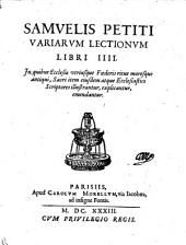 Variarum lectionum libri IV.