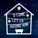 O Come  Let Us Adore Him  Pack of 6 Christmas Cards