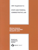 State and Federal Administrative Law