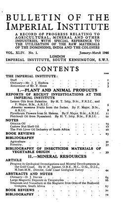 Bulletin of the Imperial Institute PDF