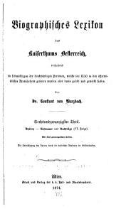 Biographisches lexikon des kaiserthums Oesterreich, enthaltend die lebensskizzen der denkwürdigen personen, welche seit 1750 in den österreichischen kronländern geboren wurden oder darin gelebt und gewirkt haben: Band 26