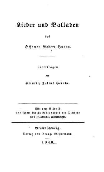 Lieder und Balladen PDF