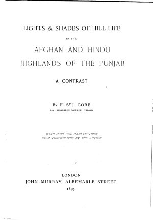 Lights   Shades of Hill Life in the Afghan and Hindu Highlands of the Punjab PDF