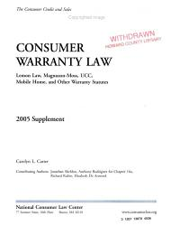 Consumer Warranty Law 2005 Supplement