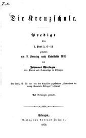 Die Kreuzschule: Predigt über 1. Petri 5, 6-11 ...