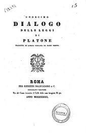 Undecimo dialogo delle leggi di Platone tradotto in lingua toscana da Dardi Bembo