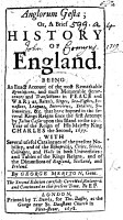 Anglorum Gesta  or  a brief History of England     since the first attempt by Julius C  sar upon this island  to the Coronation day of     King Charles the Second  etc PDF