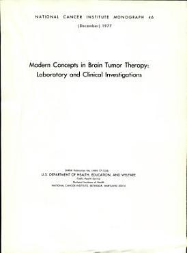 Modern Concepts in Brain Tumor Therapy PDF