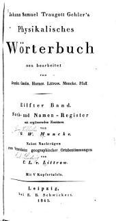 Johann Samuel Traugott Gehler's Physikalisches wörterbuch: Bd., (1845) Sach- und namen-register