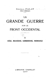 La grande guerre sur le front occidental: Volume 2