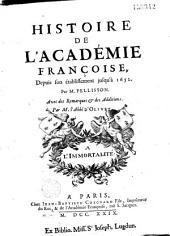 Histoire de l'Académie françoise,...