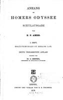 Anhang zu Homers Odyssee Schulausgabe von K  F  Ameis  3  umgearb  Aufl  besorgt von C       Hentze  H 1 2 PDF