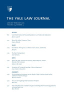 Yale Law Journal: Volume 124, Number 4 - January-February 2015