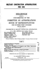 Military construction appropriations for 1991