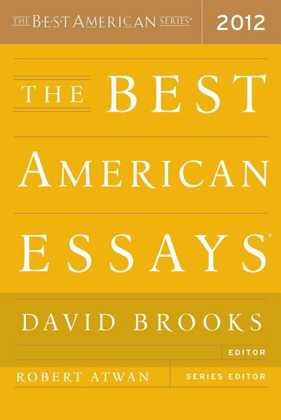 Download The Best American Essays 2012 Book