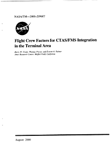 Flight crew factors for CTAS FMS integration in the terminal area