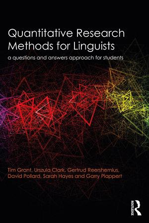 Quantitative Research Methods for Linguists