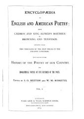 Encyclopaedia of English and American Poetry: From Caedmon and King Alfred's Boethius to Browning and Tennyson, Volume 1