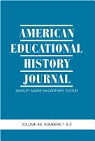 American Educational History Journal PDF