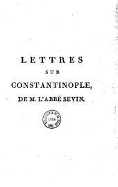 Lettres sur Constantinople