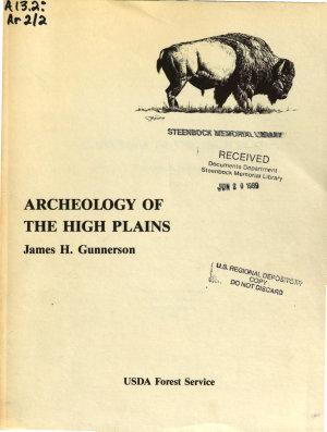 Archeology of the High Plains PDF