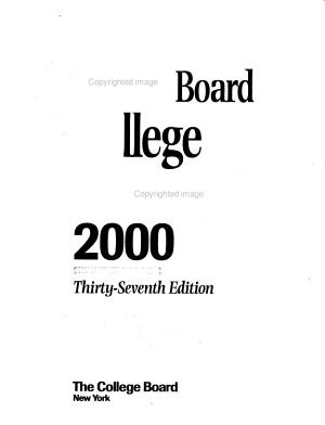 The College Board College Handbook 2000