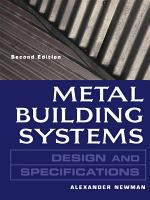 Metal Building Systems Design and Specifications 2 E PDF