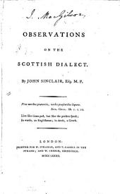 Observations on the Scottish Dialect