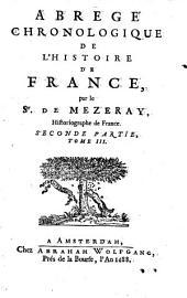 Abregé chronologique de l'histoire de France,