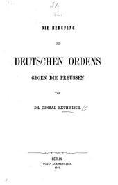 Die Berufung des Deutschen Ordens gegen die Preussen