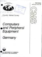 Computers and Peripheral Equipment  Germany PDF