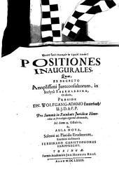 Positiones Inaugurales